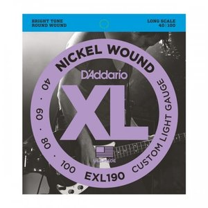 D'Addario EXL190 Nickel 40-100, Long Scale Bass Strings