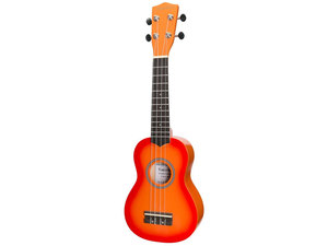 Sanchez Colourburst Series Soprano Ukulele - Orangeburst