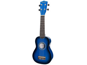 Sanchez Colourburst Series Soprano Ukulele - Dark Blueburst