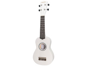 Sanchez Colourburst Series Soprano Ukulele - White